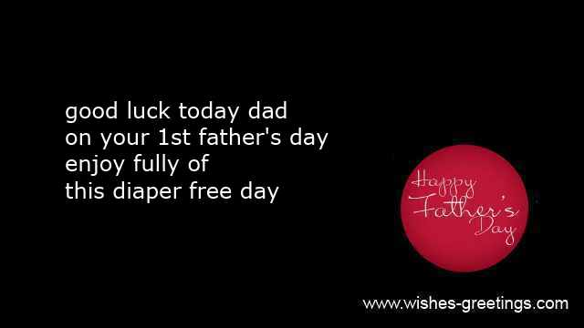 first father's day greetings messages