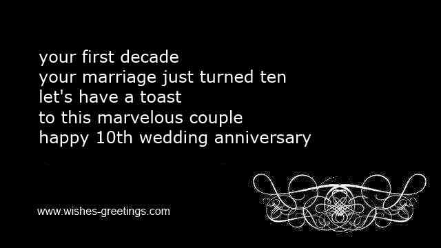 funny 10th marriage wedding sayings