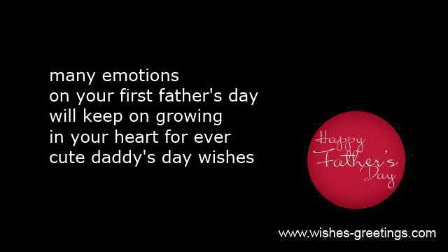 happy first father's day sayings