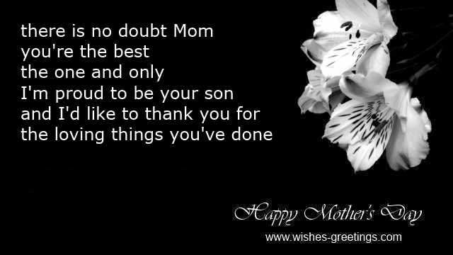 mother's day poems from son for mother