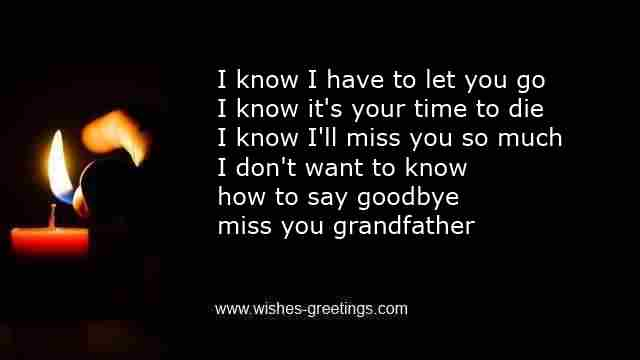 death grandpa comfort message
